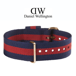 Daniel Wellington 20mm Classic Oxford NATO Watch Strap Rosegold Buckle