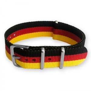 "Black Red Yellow ""Germany"" NATO Nylon Strap"