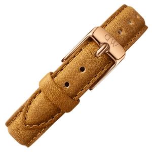 Daniel Wellington 12mm Petite Durham Brown Leather Watch Strap Rosegold Buckle
