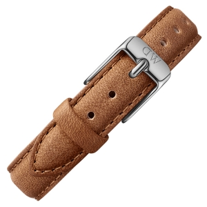 Daniel Wellington 14mm Petite Durham Brown Leather Watch Strap Stainless Steel Buckle