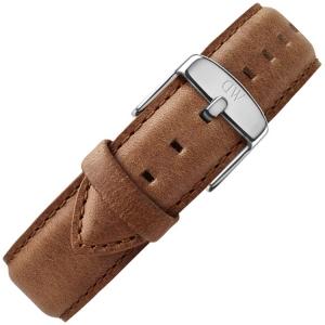 Daniel Wellington 19mm Dapper Durham Brown Leather Watch Strap Stainless Steel Buckle