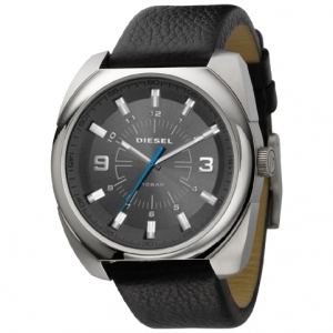 Diesel DZ1246 Watch Strap Black Leather