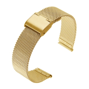 Mesh Watch Bracelet Fine Woven Steel Gold