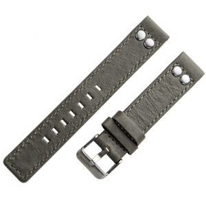 OOZOO Watch Band Grey Leather with Studs