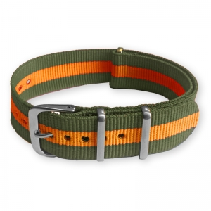 Green Orange NATO Nylon Strap