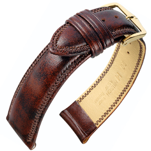 Hirsch Ascot Watch Band British Calf Skin Golden Brown