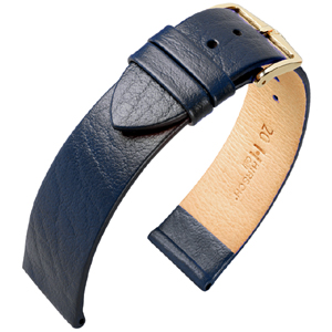 Hirsch Calf Watch Band Calfskin Blue