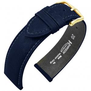 Hirsch Camelgrain Watch Band Pro Skin Allergy Free Blue