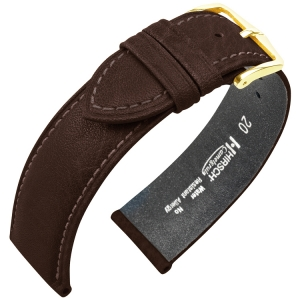Hirsch Camelgrain Watch Band Pro Skin Allergy Free Brown