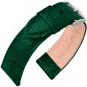 Hirsch Crocograin Watch Band Green