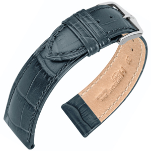 Hirsch Duke Watch Band Alligatorgrain Gray