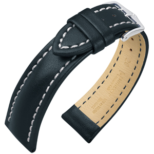 Hirsch Heavy Calf Water-Resistant Watch Band Black