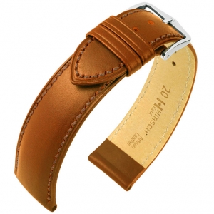 Hirsch Kent Artisan Watch Band Italian Calf Skin Golden Brown