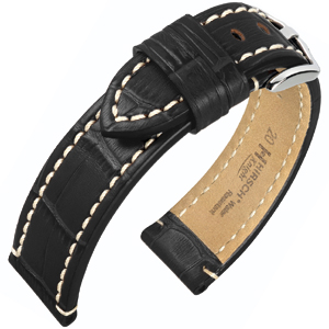 Hirsch Knight Watch Strap Black
