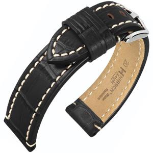 Hirsch Knight Watch Strap Black