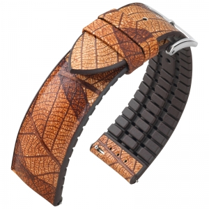 Hirsch Leaf Performance Collection Real Leaf Brown / Brown Rubber