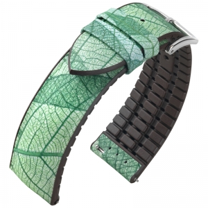 Hirsch Leaf Performance Collection Real Leaf Green / Brown Rubber
