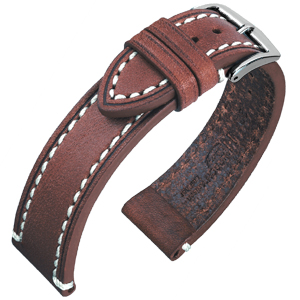 Hirsch Liberty Artisan Watchband Leather Brown