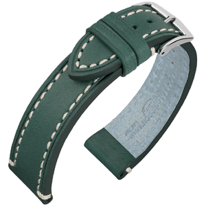 Hirsch Liberty Artisan Watchband Leather Green