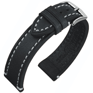 Hirsch Liberty Artisan Watchband Leather Black