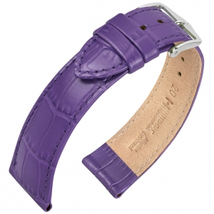 Hirsch Louisianalook Alligatorprint Watchband Purple