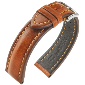 Hirsch Lucca Artisan Watchband Golden Brown