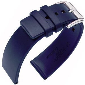 Hirsch Pure Watch Band Caoutchouc Blue