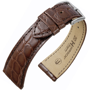 Hirsch Regent Watch Band Premium Alligator Flank Matte Brown