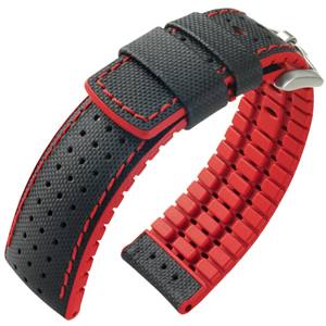 Hirsch Robby Performance Collection Black/Red Leather/Caoutchouc 300m WR