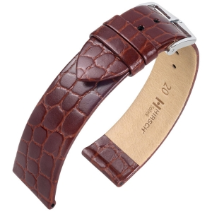 Hirsch Sobek Watch Band Crocograin Brown
