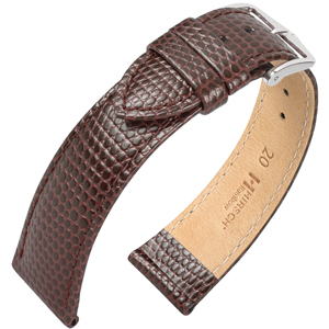 Hirsch Rainbow Watch Band Lizardgrain Brown