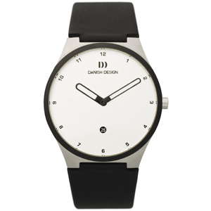 Watch Band Danish Design IQ12Q884, IQ13Q884 - black leather