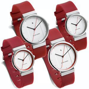 Jacob Jensen Watch Band 751, 756, 761, 766 red rubber 17mm