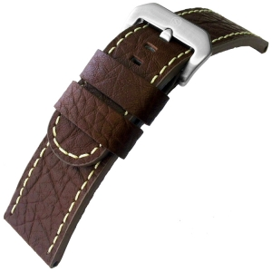 Calf Skin Watch Strap Lenzers Dark Brown