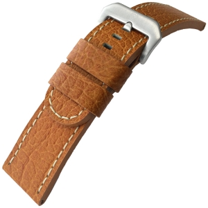 Calf Skin Watch Strap Lenzers Cognac