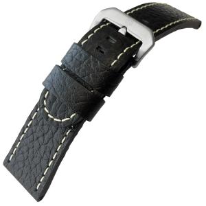 Calf Skin Watch Strap Lenzers Black - 30mm