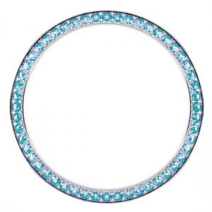 Marc Coblen / TW Steel Bezel 42mm Stainless Steel Turquoise Crystals - MCB42S202