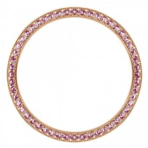Marc Coblen / TW Steel Bezel 42mm Rosegold Steel Pink Crystals - MCB42R209