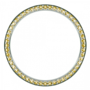 Marc Coblen / TW Steel Bezel 42mm Stainless Steel Yellow Crystals - MCB42S213