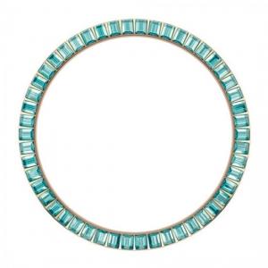 Marc Coblen / TW Steel Bezel 45mm Rosegold Steel Turquoise Crystals - MCB45R202