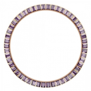 Marc Coblen / TW Steel Bezel 45mm Rosegold Steel Purple Crystals - MCB42R204