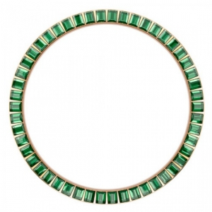 Marc Coblen / TW Steel Bezel 45mm Rosegold Steel Dark Green Crystals- MCB45R205