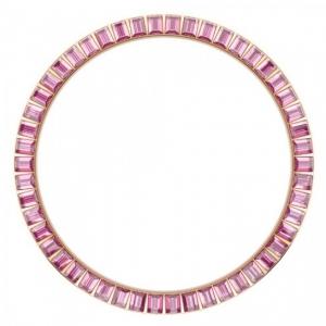 Marc Coblen / TW Steel Bezel 45mm Rosegold Steel Pink Crystals - MCB45R209