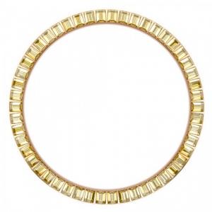 Marc Coblen / TW Steel Bezel 45mm Rosegold Steel Yellow Crystals - MCB45R213