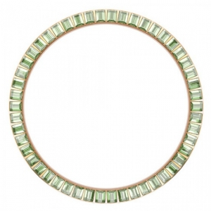 Marc Coblen / TW Steel Bezel 45mm Rosegold Steel Light Green Crystals - MCB45R214