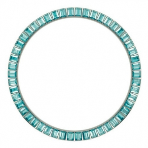 Marc Coblen / TW Steel Bezel 45mm Stainless Steel Turquoise Crystals - MCB45S202