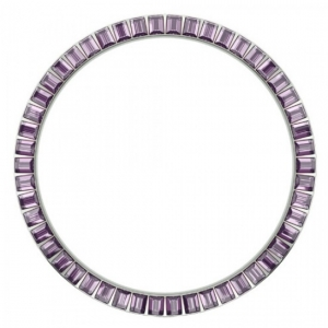 Marc Coblen / TW Steel Bezel 45mm Stainless Steel Purple Crystals - MCB45S204
