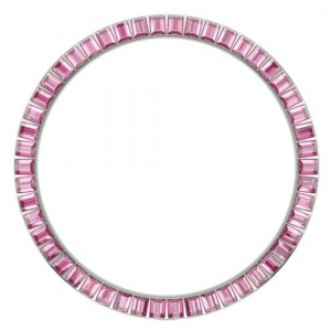 Marc Coblen / TW Steel Bezel 45mm Stainless Steel Pink Crystals - MCB45S209