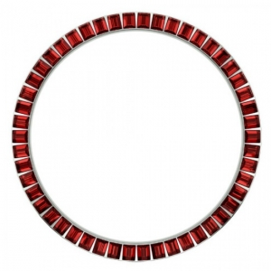 Marc Coblen / TW Steel Bezel 45mm Stainless Steel Red Crystals - MCB45S227