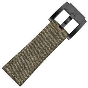 Denim Marc Coblen Watch Strap Green Brown 22mm